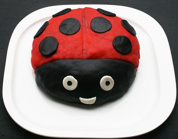 gâteau en forme de coccinelle